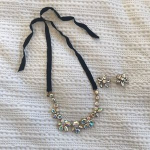 Lovely j crew necklace and earrings